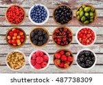 set various berries.... | Shutterstock . vector #487738309