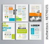 color business brochure... | Shutterstock .eps vector #487740151