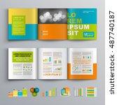 color business brochure...   Shutterstock .eps vector #487740187