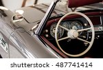 Dash shot of 1950s classic car