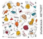 different monsters   Shutterstock .eps vector #48774397