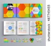 creative business brochure... | Shutterstock .eps vector #487745455