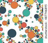 seamless pattern with colorful... | Shutterstock .eps vector #487746895