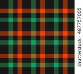 plaid   gingham pattern  ... | Shutterstock .eps vector #487757005