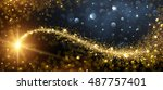 christmas background with gold... | Shutterstock .eps vector #487757401