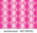 argyle   harlequin pattern  | Shutterstock .eps vector #487764781