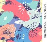 trendy vector seamless pattern...   Shutterstock .eps vector #487770064