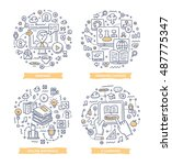 doodle vector illustrations of... | Shutterstock .eps vector #487775347