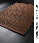 brown bamboo mat   stand food ... | Shutterstock . vector #487776835
