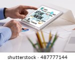 technology internet system and...   Shutterstock . vector #487777144