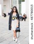 milan  italy   september 22 ... | Shutterstock . vector #487780015