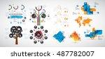 infographics vector design... | Shutterstock .eps vector #487782007