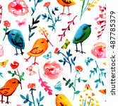 a seamless background pattern... | Shutterstock . vector #487785379