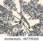 robot to human adjustments. | Shutterstock .eps vector #487790365