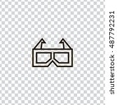 3d glasses icon vector  clip...