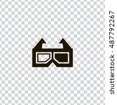 3d glasses icon vector  clip...