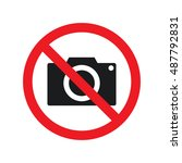 no taking photo | Shutterstock .eps vector #487792831