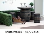 barrel table - stock photo