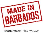 made in barbados stamp.... | Shutterstock .eps vector #487798969