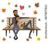 autumn romance. vector | Shutterstock .eps vector #487807861