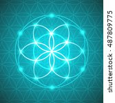 Vector Glowing Flower Of Life...