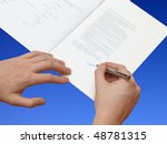 the signature of business... | Shutterstock . vector #48781315