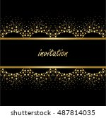 save the date  wedding... | Shutterstock .eps vector #487814035