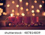 christmas decoration with... | Shutterstock . vector #487814839