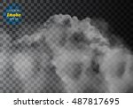 fog or smoke isolated... | Shutterstock .eps vector #487817695