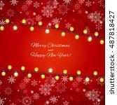 abstract beauty merry christmas ... | Shutterstock . vector #487818427