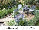 garden landscape | Shutterstock . vector #487818985