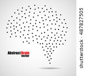abstract human brain from dots  ... | Shutterstock .eps vector #487827505