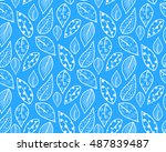seamless pattern of autumn... | Shutterstock .eps vector #487839487