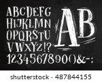 Font Pencil Vintage Alphabet...