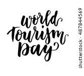 beautiful lettering for tourism ... | Shutterstock .eps vector #487844569