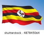 uganda flag   Shutterstock .eps vector #487845064