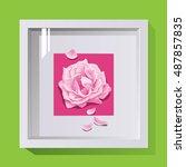volumetric frame with glass for ...   Shutterstock .eps vector #487857835