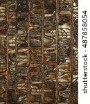 indigenous pattern | Shutterstock . vector #487858054