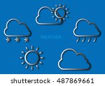 weather forecast icon | Shutterstock .eps vector #487869661