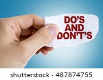 do's and don'ts | Shutterstock . vector #487874755