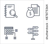 set of project management icons ... | Shutterstock .eps vector #487875364