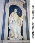 Small photo of MAFRA, PORTUGAL - JULY 17, 2016: Statue of Saint Bernard of Clairvaux, a 12th Century French abbot and the primary reformer for the Cistercian order, at the Palace of Mafra in Portugal.