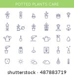 garden and potted plants care... | Shutterstock .eps vector #487883719