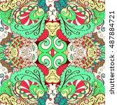 tracery seamless calming... | Shutterstock .eps vector #487884721
