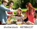 leisure  holidays  eating ... | Shutterstock . vector #487886137