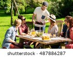 leisure  holidays  eating ... | Shutterstock . vector #487886287