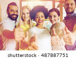business  startup  people and... | Shutterstock . vector #487887751