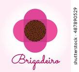 brigadeiro icon vector.... | Shutterstock .eps vector #487890529
