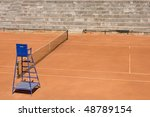 empty tennis courts above view... | Shutterstock . vector #48789154