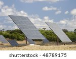 solar panels aligned and faced... | Shutterstock . vector #48789175